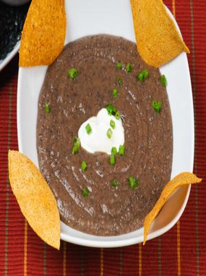 Black Bean and Salsa Soup Healthy Recipe