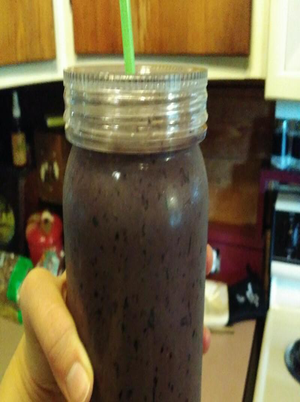 Blueberry Chocolate Smoothie Healthy Recipe