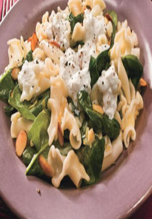 Campanelle Pasta with Burrata Cheese, and Spinach Healthy Recipe