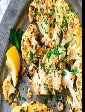 Caramelized Cauliflower Steaks Healthy Recipe