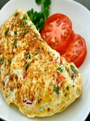 Cheese Egg White Omelette Healthy Recipe