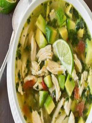 Chicken Avocado Lime Soup Healthy Recipe