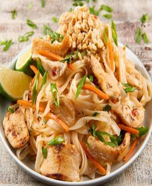 Chicken Pad Thai Healthy Recipe
