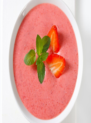 Chilled Strawberry Almond Butter Soup Healthy Recipe