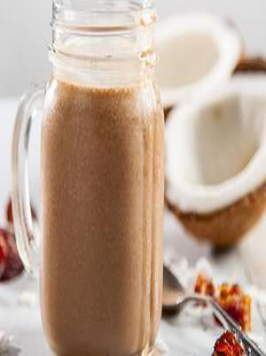 Chocolate, Banana, Coconut Smoothie Healthy Recipe
