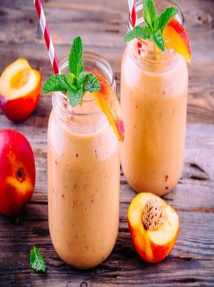 Cinnamon, Banana, and Nectarine Smoothie Healthy Recipe
