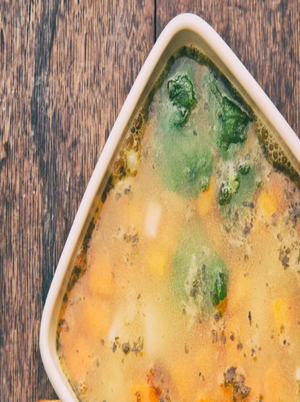 Cleansing Vegetable Turmeric Soup Healthy Recipe