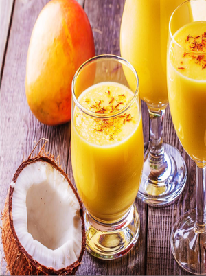 Coconut Mango Protein Shake Healthy Recipe