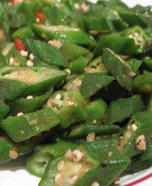 Cooked Okra Healthy Recipe