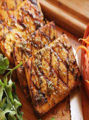 Crispy Barbequed Tofu Slices Healthy Recipe