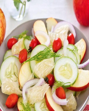 Cucumber Apple Salad Healthy Recipe