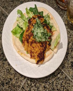 Curried Cashew Burger Healthy Recipe