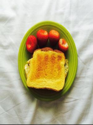 """""""Deviled Eggs"""" Style Breakfast Sandwich Healthy Recipe"""
