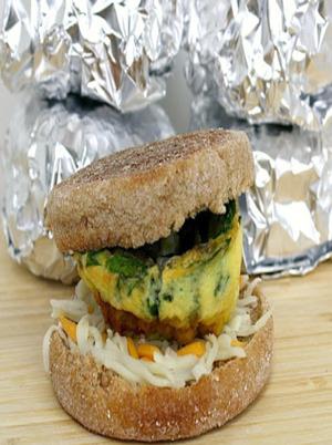 Egg and Veggie Breakfast Sandwich Healthy Recipe