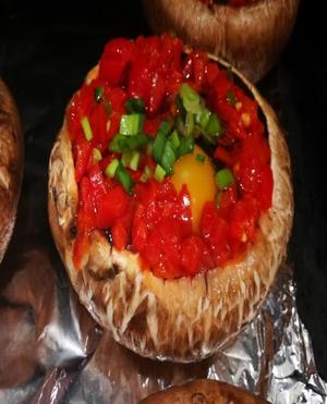 Egg Mushroom Cups Healthy Recipe
