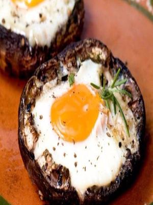 Eggs Baked in Portobello Mushrooms Healthy Recipe