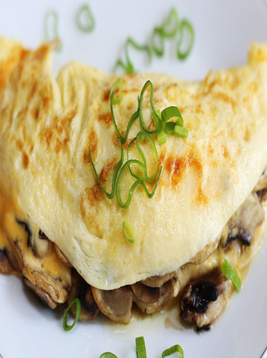 Eggs, Cheese, and Mushroom Omelet Healthy Recipe