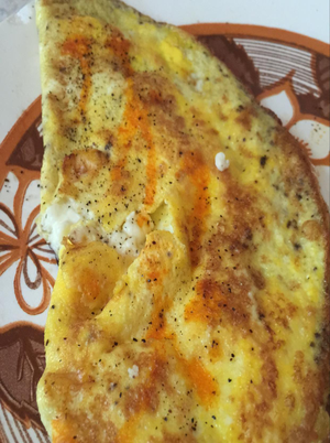 Egyptian Feta Cheese Omelet Roll Healthy Recipe