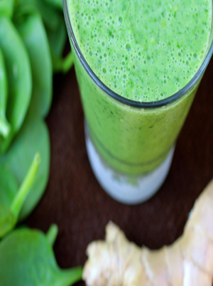 Fuel Up Green Spinach and Ginger Smoothie Healthy Recipe
