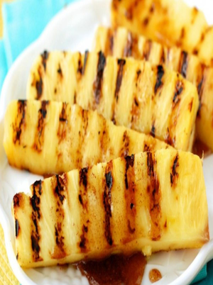 Grilled Pinapple with Cinnamon Honey Drizzle Healthy Recipe