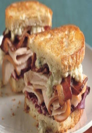 Grilled Turkey, Bacon, Radicchio, and Blue Cheese Sandwiches Healthy Recipe