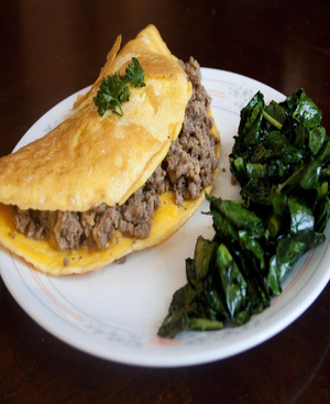 Ground Beef Omelet Healthy Recipe