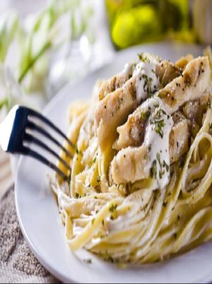High Protein Chicken Alfredo Healthy Recipe