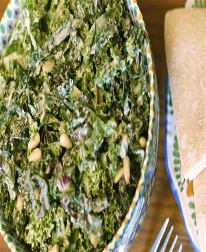 Kale Salad Pistachio Healthy Recipe