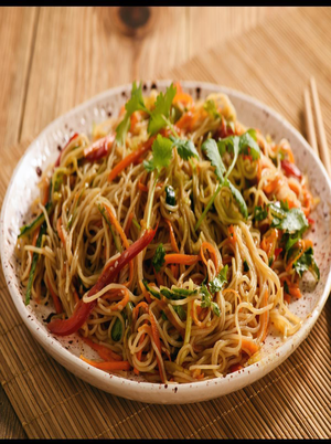 Korean-Style Noodles with Vegetables Healthy Recipe