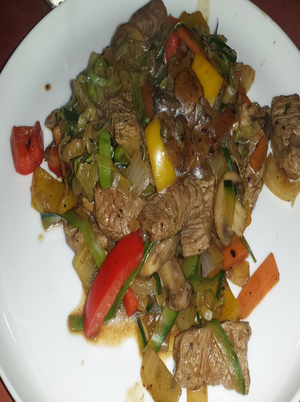 Lamb Stir-Fry with Zucchini Noodles Healthy Recipe