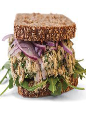 Lemon-Pepper Tuna Sandwich Healthy Recipe