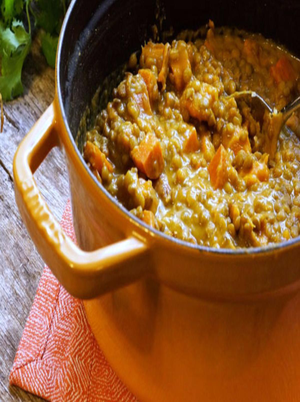 Lentil and Sweet Potato Coconut Curry Healthy Recipe