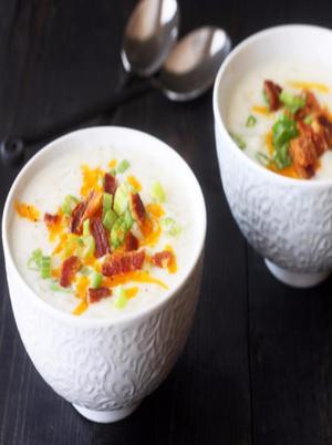Light Loaded Potato Soup Healthy Recipe