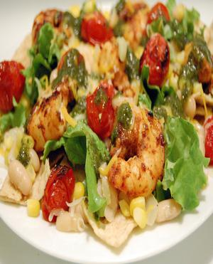 Taco Lime Shrimp Salad Healthy Recipe