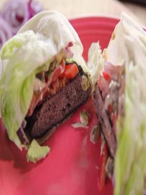 Low Carb Lettuce Burger Healthy Recipe