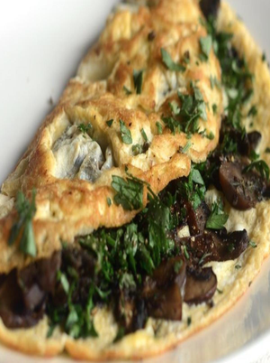 Mushroom Egg White Omelet Healthy Recipe