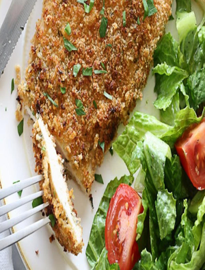 Mustard Herb Crusted Chicken Breasts Healthy Recipe