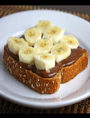 Nutella and Banana Toast Healthy Recipe