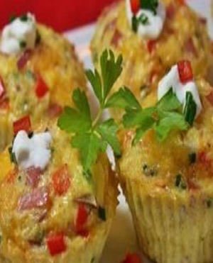 Omelet Cupcakes Healthy Recipe