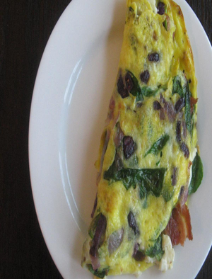 Omelet with Feta and Bacon Healthy Recipe