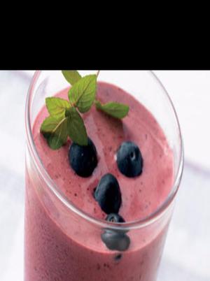 Orange Blueberry Yogurt Smoothie Healthy Recipe