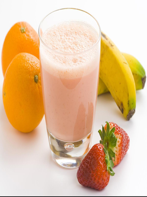 Orange Breakfast Fruit Smoothie Healthy Recipe