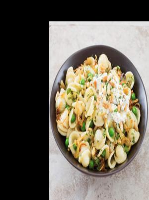 Orecchiette with Peas, Pine Nuts, and Ricotta Healthy Recipe