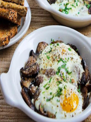 Parmesan and Mushroom Baked Eggs Healthy Recipe
