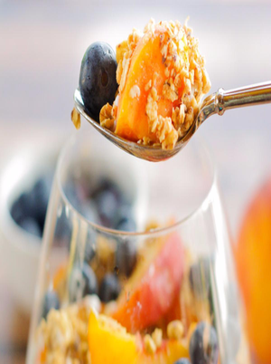 Peach and Blueberry Parfait  Healthy Recipe