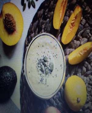 Peach Avocado Smoothie Healthy Recipe