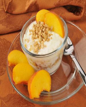 Peach Yogurt Parfait Healthy Recipe