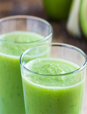 Peaches and Greens Smoothie Healthy Recipe
