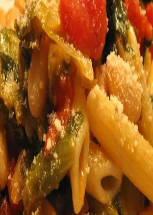 Penne Pasta with Cannellini Beans and Escarole Healthy Recipe