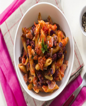 Penne With Black Beans Healthy Recipe